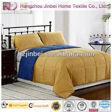 Blue-Gold Down Alternative Duvet/Microfiber Quilt/Polyester Comforter