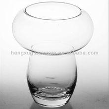 clear glass vase ,mouth blown glass vase, wholesale cheap