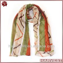 New arrival zigzag stripe chevron polyester scarf