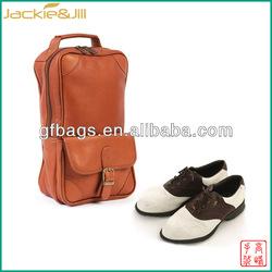 GF-X113 Mens Sport Leather Golf Shoe Bag