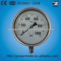 160mm ss- parte inferior de vidrio de seguridad wika lleno de aceite de presión de dispositivos de medición