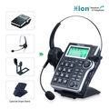 call center teclado de discagem caller id telefone com cancelamento de ruído fone de ouvido microfone