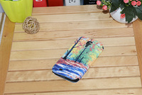 Leather cell phone case, Leather mobile phone case, Sublimation Leather Flip Cover for Samsung S4(#SFS-LS4); leather cover