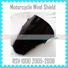 motorcycles Windshield for APRILIA RSV1000 2005 2006 RSV 1000 05 06 windscreen BLACK