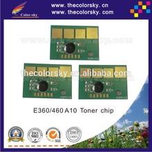 (TY-LE360-9) toner cartridge reset chip for Lexmark e360 e460 e 360 460 E360AP E460A21P bk 9k pages free DHL
