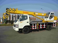 new 10 ton small telescopic crane, Yugong brand, ISO9001 certificate wtih moment limiter low price and good quality