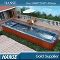 Hs-s10y banheira de hidromassagem exterior 12 piscina jardim madeira saia banheira de água quente