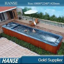 HS-S10Y outdoor spa tub 12 swimming pool garden wood skirt hot tub