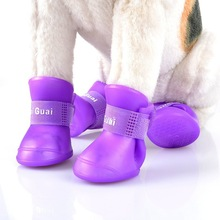 Rubber material fashion fluorescent color Anti-Slip outdoor waterproof dog sock dog shoe