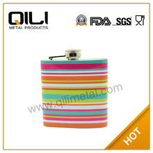 6oz colorful hip flask funky gift wedding gifts away water transfer print