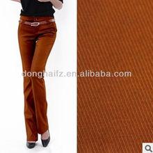women trousers 100% cotton fabric twill