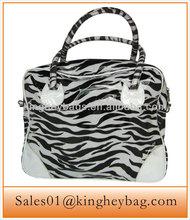 Ladies Fashion Zebra Printing PU Tote Handbag
