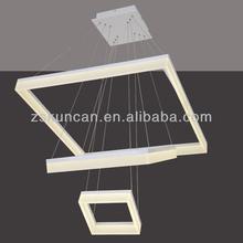 Modern matt white Dimmable led chandelier