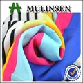 mulinsen textil tejido de algodón 100 la raya de color impreso y llanura tela voile