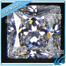 high quality princess cut white cubic zircon