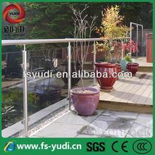 exterior metal glass terrace railing design