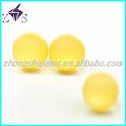 amzing yellow ball cz raw bead stone