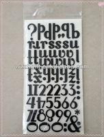 3D EVA Glitter Alphabet Adhesive Sticker