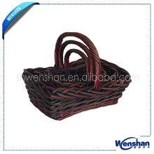 custom flower girl wicker baskets