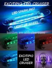 2014 Hot Seling High Qualtiy 22 inch PC skateboard LED skateboard