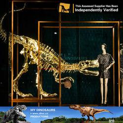 MY Dino-Fashion show window golden dinosaur fossil