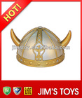 Promotional carnival party hat plastic viking helmet