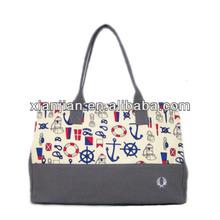 Ladies Korean Style Hobo Bag ,Totes Hangbag,Shoulder Bag With Anchor Printed(BOFZ009)