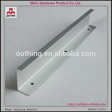 oxidised finish mat silver aluminium furniture kitchen hardware cabinet profile pull handle