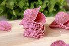 baked Purple potato chips