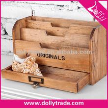 Antique Style Bamboo office storage box,Bamboo Desk Organizer/ Name Card Holder/ Pen Holder
