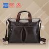 wholesale men's leather tote shoulder bag for ipad&leather passport bag