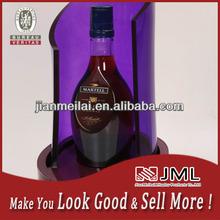 Acrylic wine display glorifier / wine bottle display holder