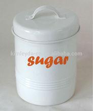 cream white tea coffee sugar storage jars canisters