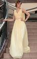 dorisqueen 1pc moq baisse navire de gros bon marché une épaule col v à long élégante robe de soirée en cristal jaune