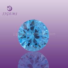Best-selling Ocean Blue Luster Round Cubic Zirconia gemstones