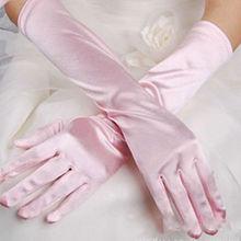 2014 Evening Party Wedding Bridal Formal Long Satin Gloves