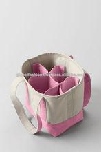 Large Eco 6 Bottle wine Handbag . Very Strong tote 6 bottle carrier. shopping Bag, wine bottle bag