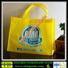 yellow environmental eco non woven bag