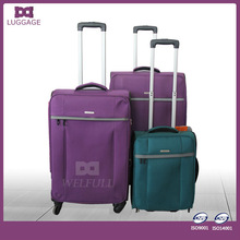 Simplified Purple Trolley Luggage And Luggage Wheel