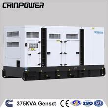 Factory Price 375 KVA 300kw super silence household backup Cummins diesel power genset with stanford alternator