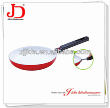 Pressed Aluminum Ceramic Coated Frying Pan With Detachable handle, removable handle
