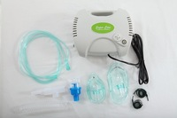 Portable piston compressor nebulizer inhalers for asthma treatment