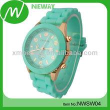 custom design silicone geneva quartz watches price cheap