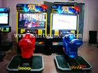 Video game attack motor racing game machine