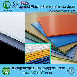 3mm 4mm 5mm 6mm plastic corflute sheet / board