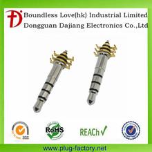 china supplier Headset plug 3.5 mm 4 poles audio plug
