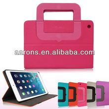Smart handbag leather case for ipad mini/ipad mini2 with credit card slot