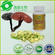 reishi mushroom spores capsules supplement delay againg softgel capsule