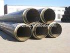 pvc coated api epoxy coated black welded spiral steel pipe