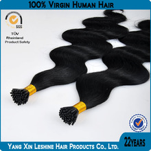 100% high quality cheap 0.5/0.8/1.0g 16 inches stick pre bonded hair extension